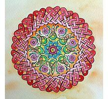 Watercolor Painting Australian Art Mandala Hippie Celtic Knot Photographic Print