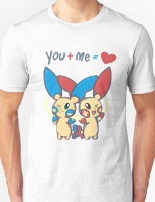 Plusle and Minun Valentine's Day T-Shirt