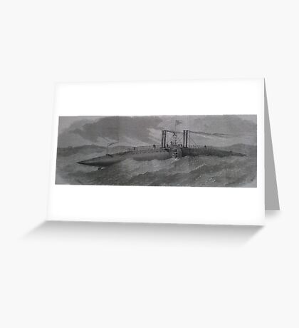 Bizarre Victorian Steampunk like cigar ship Greeting Card