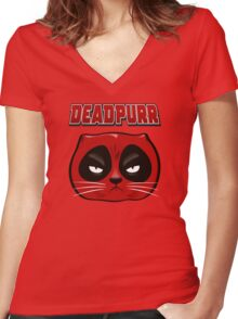 Deadpurr Women's Fitted V-Neck T-Shirt