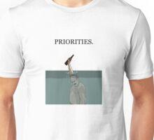 PRIORITIES. Unisex T-Shirt