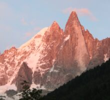 Sunset on Les Drus, France Sticker