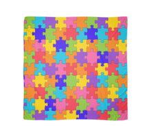 Colorful Jigsaw Puzzle Scarf