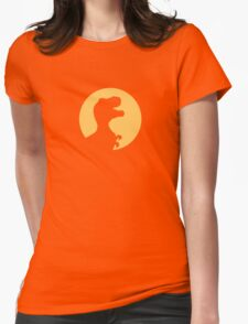 T Rex Howling Womens Fitted T-Shirt