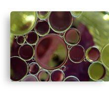 Oil bubbles Canvas Print