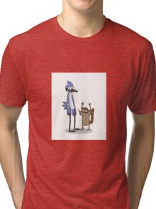 Rigby and Mordecai Tri-blend T-Shirt