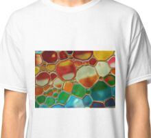 multi-colour oil bubbles on water Classic T-Shirt