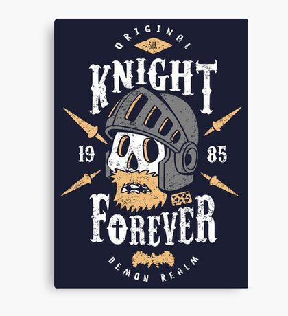 Knight Forever Canvas Print