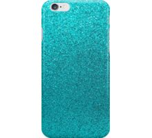 Aqua Blue Faux Glitter Background  iPhone Case/Skin