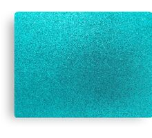 Aqua Blue Faux Glitter Background  Canvas Print