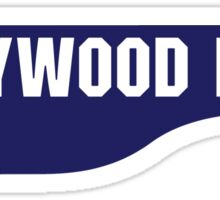 Hollywood Boulevard, Old-Style Street Sign, Los Angeles, California Sticker