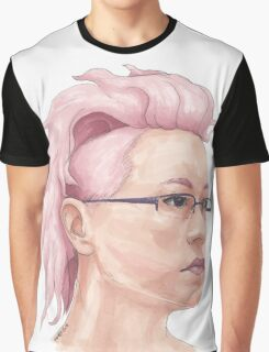 Pink Hair Graphic T-Shirt