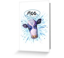 Tele[athic Cow Greeting Card