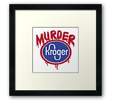 murder shirt Framed Print