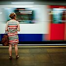 Mile End Tube Stop, London by Bob Ramsak