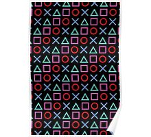 Gamer Pattern Black Poster