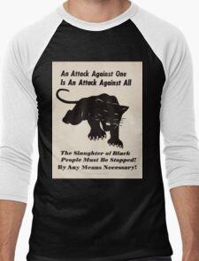 Black panther poster Men's Baseball ¾ T-Shirt