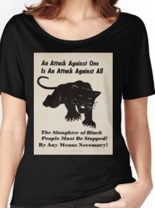 Black panther poster Women's Relaxed Fit T-Shirt