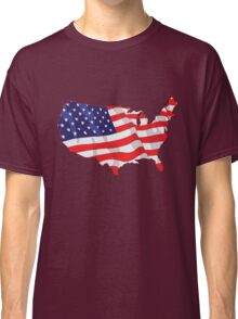 American Flag Map of United States Classic T-Shirt