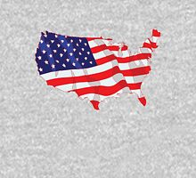 American Flag Map of United States Unisex T-Shirt