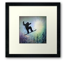 The Snowboarder: Air Framed Print