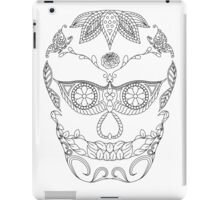 Bird and butterflies black and white iPad Case/Skin