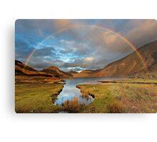 Wasdale and Wastwater Rainbow in the English Lake District Metal Print