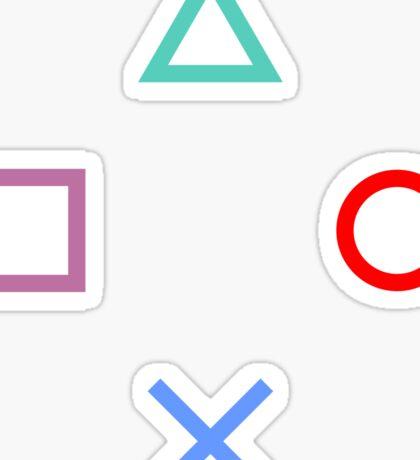 Gamer Pattern White Sticker