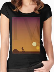 Star Wars Episode 4 Women's Fitted Scoop T-Shirt