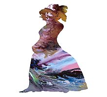 Bustle dress Photographic Print