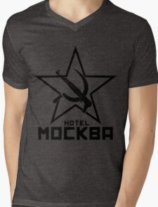 Black Lagoon Hotel Moscow Mens V-Neck T-Shirt