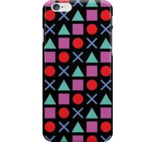 Gamer Pattern Solid Black iPhone Case/Skin