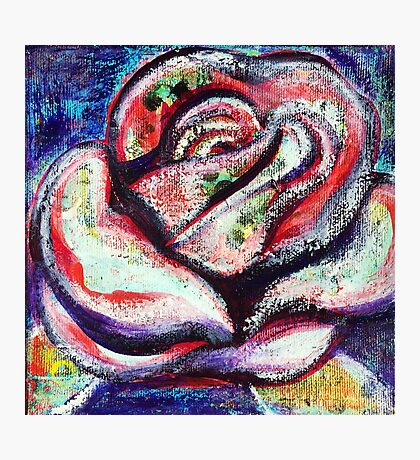 The Soul of a Rose - Inner Power Painting by Magic with Mellie Photographic Print