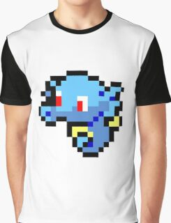 Pokemon 8-Bit Pixel Horsea 116 Graphic T-Shirt