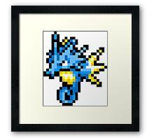 Pokemon 8-Bit Pixel Seadra 117 Framed Print