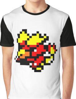 Pokemon 8-Bit Pixel Magmar 126 Graphic T-Shirt