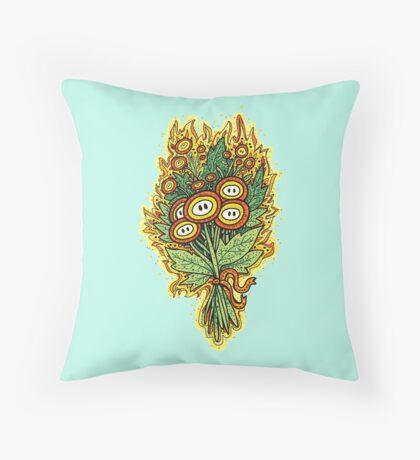 Fire Flower Bouquet Throw Pillow