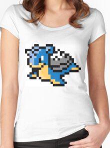 Pokemon 8-Bit Pixel Lapras 131 Women's Fitted Scoop T-Shirt
