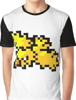 Pokemon 8-Bit Pixel Zapdos 145 Graphic T-Shirt