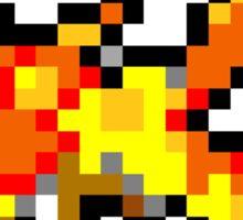 Pokemon 8-Bit Pixel Moltres 146 Sticker