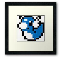 Pokemon 8-Bit Pixel Dratini Framed Print
