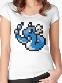 Pokemon 8-Bit Pixel Dragonair 148 Women's Fitted Scoop T-Shirt