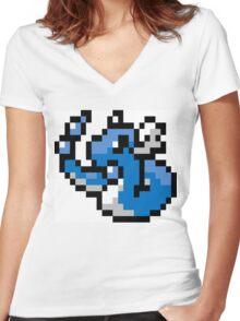 Pokemon 8-Bit Pixel Dragonair 148 Women's Fitted V-Neck T-Shirt
