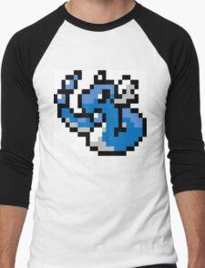 Pokemon 8-Bit Pixel Dragonair 148 Men's Baseball ¾ T-Shirt