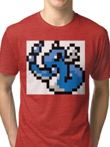 Pokemon 8-Bit Pixel Dragonair 148 Tri-blend T-Shirt