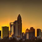 charlotte nc skyline at sunset by Alexandr Grichenko