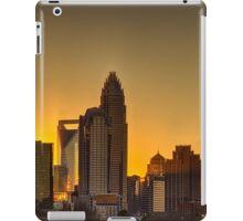 charlotte nc skyline at sunset iPad Case/Skin