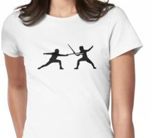 Fencing Womens Fitted T-Shirt