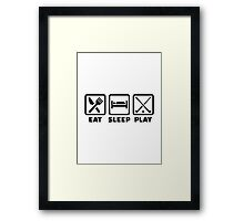 Eat sleep play field hockey Framed Print