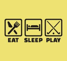 Eat sleep play field hockey Kids Tee